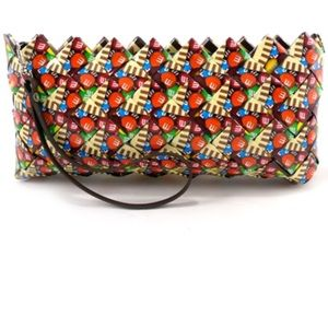Egoist recycled wrappers m&m purse clutch bag